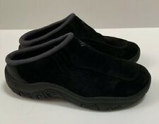 Women's Columbia Black Suede Slip-On Mules Shoes Size 6 M