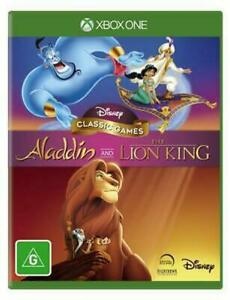 Disney Aladdin and The Lion King Xbox One VERY GOOD! FREE POST + TRACKING