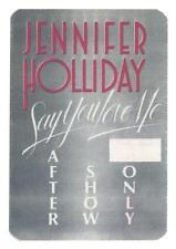 Jennifer Holliday - Say you love Me - Konzert-Satin-Pass - Schönes Sammlerstück