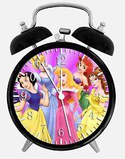 "Disney Princess Alarm Desk Clock 3.75"" Home or Office Decor W107 Nice For Gift"