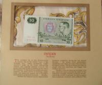 Most Treasured Banknotes Sweden 10 Kronor 1980 P 52e UNC Prefix CA
