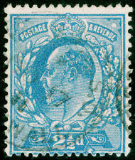 Sg284, 2½d dull blue Perf, 15x14, Fine Used, Cds. Cat £15.