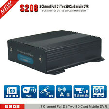 8 Ch Dual SD Cards Car DVR & H.264 Real-time Video Recorder DVR + 3G GPS WiFi