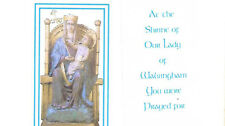 AT THE SHRINE - OUR LADY OF WALSINGHAM YOU WERE PRAYER FOR - LAMINATED TINY CARD