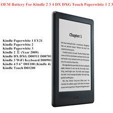 Batería Genuina Para Amazon Kindle 2 3 4 5 DX DXG Paperwhite 1 Touch 2 3 4 Ebook