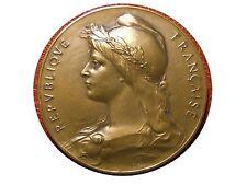 Art Nouveau Marianne patriotic union Bronze Medal by Louis-Oscar Roty. M7c