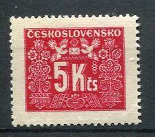 TCHECOSLOVAQUIE - 1946-48, timbre TAXE 77, FLEURS, OISEAUX, neuf**