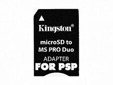 KINGSTON MICRO SD TO MS PRO DUO ADAPTER FOR MEMORY STICK DEVICES 2GB-32GB