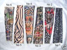 Nylon Tattoo Sleeve x 6 ,1 of each design, fancy dress, STOCKING FILLERS