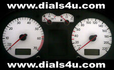 VOLKSWAGEN VW GOLF Mk4 (1999-2004) - 220km/h (Petrol or Diesel) - WHITE DIAL KIT