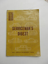 1961 FIAT 500 Bambino Nuova Factory Turin Servicemans Digest