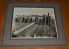 3 Antique c1911 Wichita Falls TX Laying Oil Pipeline & Base Camp Cabinet photos