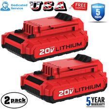 2X For PORTER CABLE PCC680LP 20Volt Max Lithium-Ion 20V Battery PCC685L PCC682L