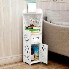 �3-Tier Bathroom Cabinet Shelf Storage Cupboard Toilet Unit Free Standing