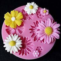 3D Daisy Flower Shaped Fondant Mold Silicone Sugar Cake  DIY Mould