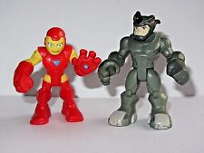 "Playskool Super Hero Adventures  Iron Man & Rhino    2.5"" Toy Figure Set"