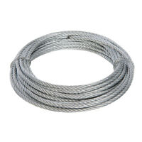 Fixman Wire Rope 4mm 6mm 10M Length Zinc Plated Corrosion Resistant Weatherproof