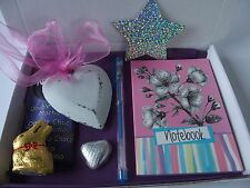 Notebook pen heart chocolate lindt hamper Birthday Thankyou Mum Nan Auntie gift