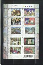 SINGAPORE 2004 ART SERIES PAINTINGS OF LIU KANG SHEET OF 10 STAMPS SC#1080 MINT