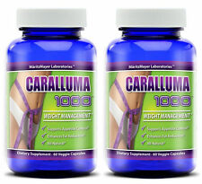 CARALLUMA Fimbriata 1000mg(10:1)RATIO Appetite Suppressant Weight Loss 2 Bottles