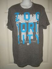 "#509 NWT ZOO YORK MEN'S GRAY Smolder Tri-blend Shirt ""THE UNBREAKABLE CITY""  M"