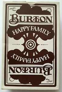 VINTAGE PLAYING CARDS CARD GAME BURTON HAPPY FAMILIES 44 CARDS RULES BOX 1980s