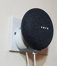 Google Home Mini Bracket Clips to UK PLUG GREY No screws/drill holes needed