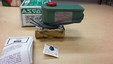 1/2 ASCO Shut Off valve J8210D2 120/60 2W NC 5-200psi w/ Junction Box