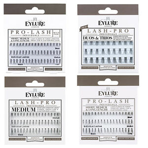 Eylure PRO-LASH Individual Flare False Eyelashes + Glue Short/Medium/Long Length