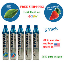 Canned Oxygen (5 Pack) (Mint, Strawberry and Natural)