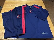 NEW  LOS ANGELES CLIPPERS WARM UP JACKET + PANTS NBA FUSION Men's Blue