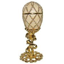 Oeuf Fabergé style/ OEUF AU TREILLIS DE DIAMANT/ Oeuf collection Fabergé