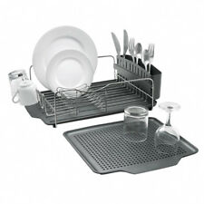 Polder Advantage Stainless Steel Dish Rack Dishrack 4pcs Incl Tray and Drainer