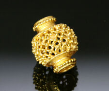 HANDMADE ANTIQUE STYLE SOLID 22K GOLD BEAD THAILAND