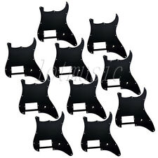 10* Guitar 1 Humbucker Pickguard for Fender Stratocaster Strat Parts 3Ply Black