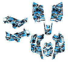 Polaris Scrambler 850 1000 Graphics ATV Sticker Kit Digital Camo Blue