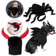 Black Spider Bat Wings for Pet Cat Small Dog Halloween Cute Fancy Dress Costume