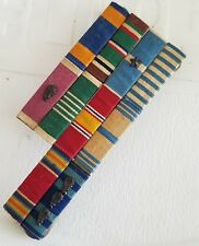 WWII US Army AAC B17 Pilot Legion of Merit Air Medal Ribbon Bar Mounted Set