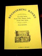 TIN/CAST IRON POCKET/DIME/REGISTER/REGISTERING TOY MECHANICAL BANK BOOK OOP