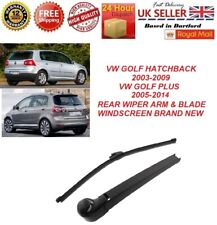 VW GOLF V 5 MK5 03-09 GOLF PLUS 05-14 REAR WIPER ARM & BLADE WINDSCREEN NEW