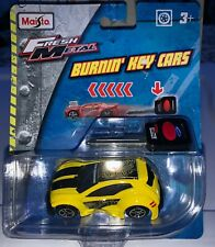 2015 Maisto Fresh Metal Burnin' Key Cars - Yellow New