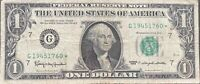 USA 1 Dollar 1963 Federal Reserve Note One Banknote Schein STAR NOTE #25323