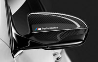 2x BMW M Performance side Mirror Decal sticker badge emblem logo Fit all models