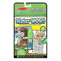 Melissa And Doug On The Go Water Wow Pet Mazes Reveal Pad NEW Craft Set