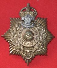 British Army. Royal Marines Genuine Plymouth Bandsman's Helmet Plate Badge