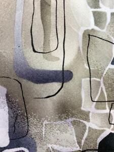 J GARCIA GRAY BROWN ARCHES CURVES LINES ART SILK NECKTIE TIE MDE1720A #C27