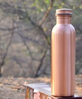 Pure Copper Bottle for Water 1 Litre Matt Finish Health Benefits Water Bottle
