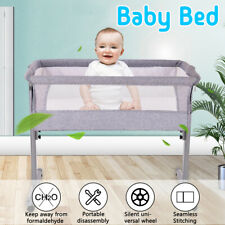 0-3 Years Portable Folding Travel Cot Portacot BABY BED SIDE SLEEPING BASSINET