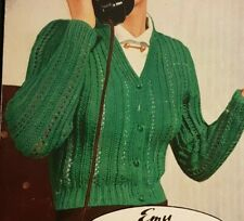 """Jaeger Knitting Pattern Sweater Lacy Patterned Jumper 30-40/"""" 4 Ply 5690 Vintage"""