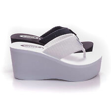 12f74b861 New Womens Sandals Wedge Shoes Platform Heels Thong Flip Flops Soda OXLEY-S